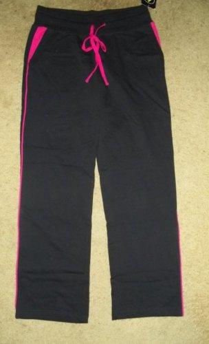 NWT Black and Pink ATHLETECH Athletic Yoga Pants Juniors Size 9 MEDIUM