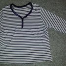 WHITE STAG Purple Striped Long Sleeved Top Womans Plus Size 2X 18W 20W