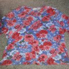 WHITE STAG Floral Print Top with Sequins and Beads Womans Plus Size 2X