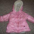 Hooded Pink OSH KOSH Winter Jacket Parka Girls Size 12 months