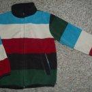H&M Striped Fleece Zip Front Jacket Girls or Boys Size 2-4