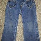 ARIZONA JEANS Denim Jeans Heart Shaped Pockets Girls Size 2T