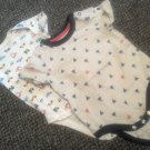 Lot of Onezie Tops Boys Size 0-3 months Sailboats Vehicles