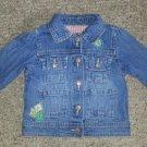 OSH KOSH Patchwork Denim Jacket Girls Size 18 months