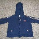 CARTER'S Navy Blue Hooded Zip Front Sweatshirt Boys Size 18 months