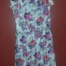 YOUNG DIMENSIONS Pink and Purple Floral Print Sundress Girls Size 10-12
