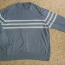 CHEROKEE Blue Striped Long Sleeved Pullover Mens Size XL