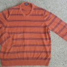 CHEROKEE Rust Striped Long Sleeved Pullover Mens Size XL