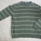 CHEROKEE Green Striped Long Sleeved Pullover Mens Size XL