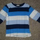 H&M Blue Striped Long Sleeved Top Boys Size 3-4