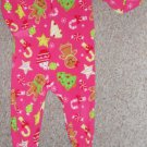CARTER'S Pink Gingerbread and Candy Cane Blanket Sleeper  Girls Size 3T