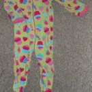 THE CHILDREN'S PLACE Green Cupcake and Candy Blanket Sleeper Girls Size 3T