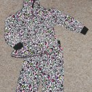 GARANIMALS Animal Print Hooded Fleece Pant Set Girls Size 24 months
