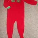 CARTER'S Red I'VE BEEN GOOD Christmas Fleece Blanket Sleeper Toddler Size 3T