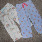 Lot of CARTER'S Fleece Sleep Pants Girls Size 2T