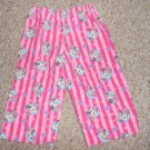 Homemade Flannel Sleep Pants Pink MINNIE MOUSE Girls Size 2T