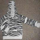 JUMPING BEANS Zebra Print Hooded Jacket Girls Size 3T