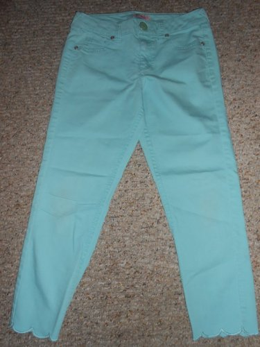 CANDIES�S Blue Scalloped Hem Stretch Denim Jeans Girls Size 16