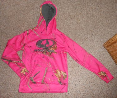 MOSSY OAK Pink Fleece Lined Hooded Pullover Girls Size 14-16 XL NEW
