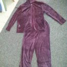 PACER by Karen Scott Purple Hooded Pant Set Ladies XLarge