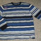 OLD NAVY Blue and Gray Striped Long Sleeved Top Ladies LARGE