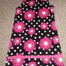 CORKYS KIDS Black and Pink Daisy Corduroy Jumper Dress Girls Size 10