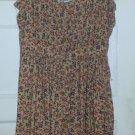 FOREVER 21 Brown Floral Print Sundress Ladies Medium Size 6-8