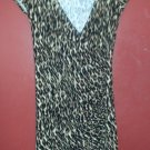 MERCER & MADISON Animal Print Shirred Side Dress Ladies SMALL