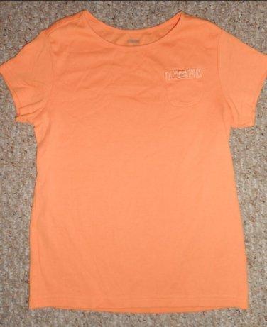 GYMBOREE Light orange Bow Trim Short Sleeved Top Girls Size 12