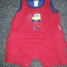 CARTER'S Red Sleeveless T is For Tractor Short Romper Boys 3 months