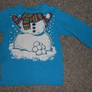 THE CHILDREN'S PLACE Blue Snowman Long Sleeved Top Unisex Size 3T