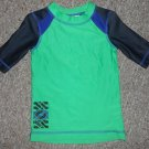 DISNEY Green and Navy Rash Guard UV Swim Top XS Boys Size 4