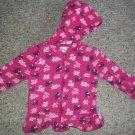 CRAZY 8 Pink Floral Print Zip Front Hooded Sweatshirt Jacket Girls Size 12-18 months
