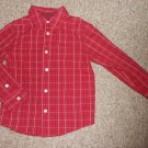 SONOMA Red Plaid Long Sleeved Button Front Shirt Boys Size 5-6 M