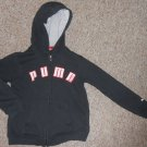 PUMA Black Hooded Zip Front Sweatshirt Jacket Boys Size 6