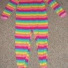 OSH KOSH Rainbow Striped Fleece Blanket sleeper Girls Size 4