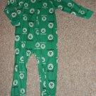 BOSTON CELTICS One Piece Sleeper Pajamas Boys Size 3T