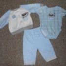 DUCK DUCK GOOSE Layette Set Bodysuit Pants Jacket Boys Size 3-6 months