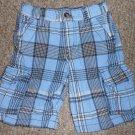 CRAZY 8 Blue Plaid Cargo Shorts Boys Size 4