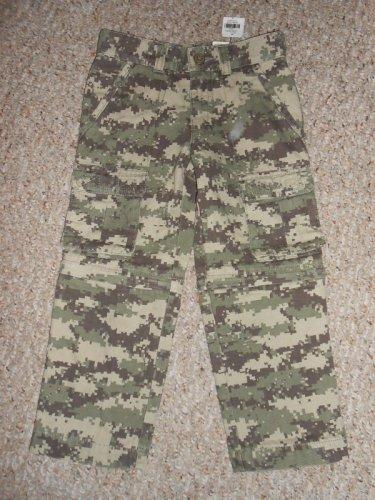 NWT Convertible Green Camo LL BEAN Lined Cargo Denim Jeans Boys Size 4
