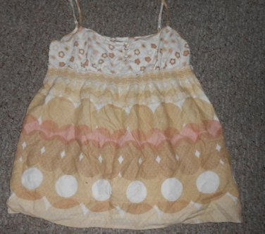 JUICY COUTURE Tan Floral Print Cami Tank Ladies Size 10