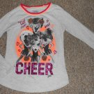 JUSTICE Gray Puppy and Kitty CHEER Long Sleeved Top Girls Size 10