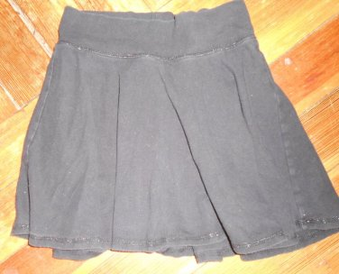 JUSTICE Flirty Black Skort with a Hint of Sparkle Girls Size 10