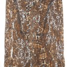 LANE BRYANT Pleated Brown Animal Print Blouse Ladies Size 18-20 NEW