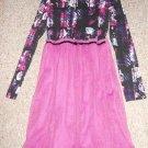 XHILARATION Layers of Tulle Overlay Black and Purple Dress Girls Size 14-16