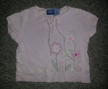 KOALA KIDS Pink Embroidered Short Sleeved Top Girls Size 36 months 3T