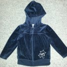 OSH KOSH Black Velour Hooded Jacket Girls Size 3T