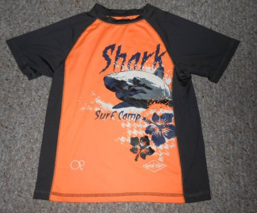 OP Black and Orange SHARK SURF CAMP Dri Fit Top Boys Size 6-7