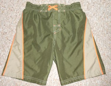 MOSSIMO SUPPLY CO Green Board Shorts Swim Suit Boys Size 6-7