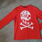 CRAZY 8 Orange Skull HALLOWEEN Long Sleeved Boys Top Size 10-12